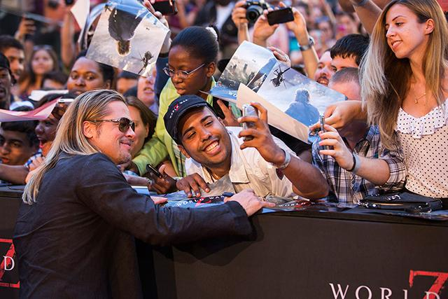 Brad at World War Z Premiere, New York..June 17th 2013 00002025