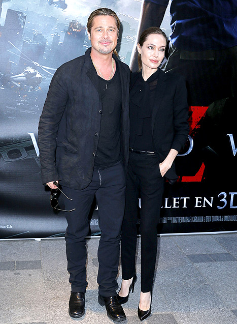 Brad and Angelina World War Z Premiere,UGC Normandie Movie Theatre.. Paris,France..June 3rd 2013 00020110