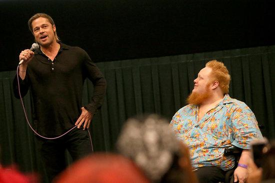 Brad at World War Z Screening .Regal Westgate Theater...Austin,Texas..June 6th 2013 00133612