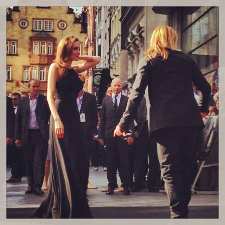 Brad and Angelina at World War Z Premiere..Leicester Square, London..June 2nd, 2013 00144648
