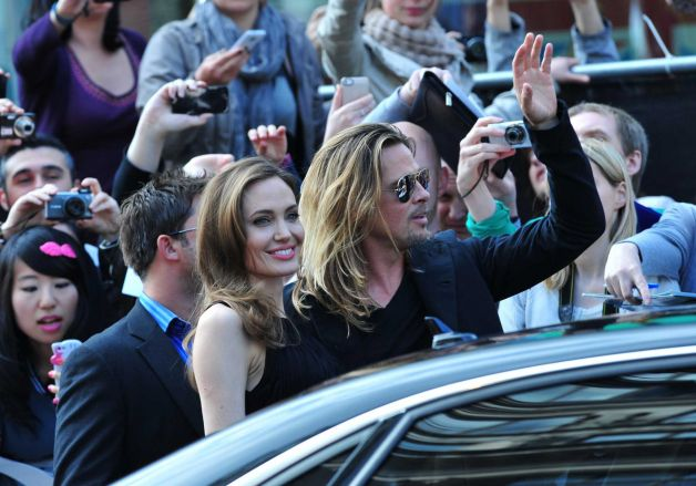 Brad and Angelina at World War Z Premiere..Leicester Square, London..June 2nd, 2013 00144651