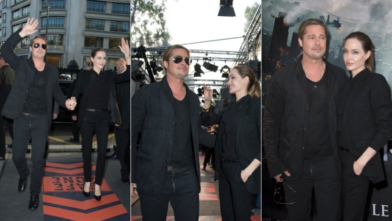 Brad and Angelina World War Z Premiere,UGC Normandie Movie Theatre.. Paris,France..June 3rd 2013 00144665