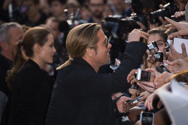 Brad and Angelina World War Z Premiere,UGC Normandie Movie Theatre.. Paris,France..June 3rd 2013 00144666