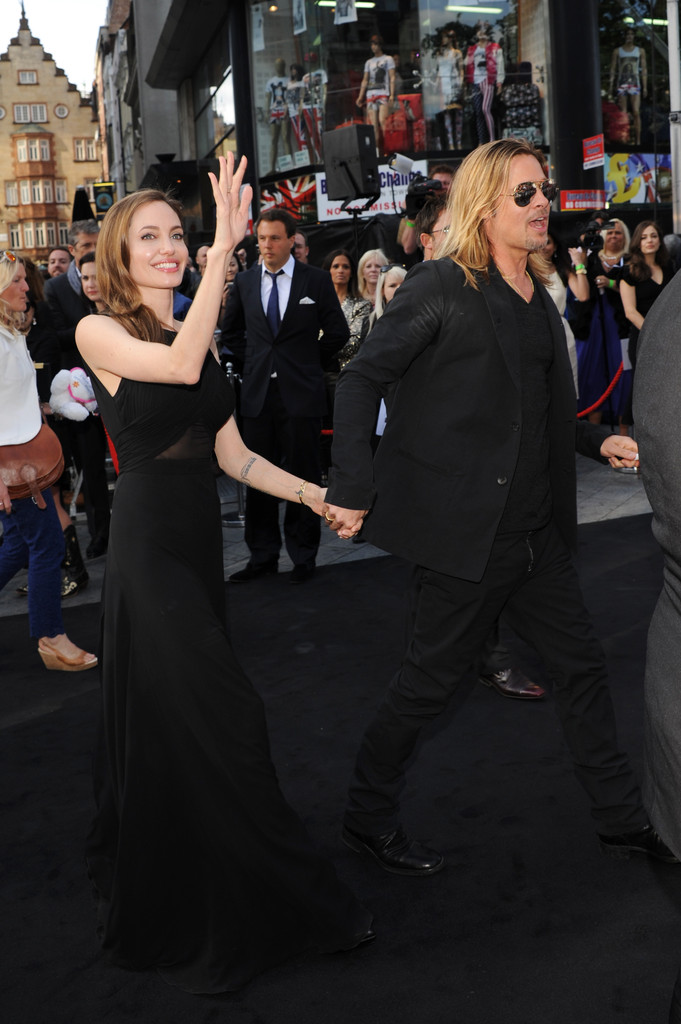 Brad and Angelina at World War Z Premiere..Leicester Square, London..June 2nd, 2013 00335728