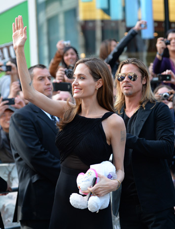 Brad and Angelina at World War Z Premiere..Leicester Square, London..June 2nd, 2013 00335729