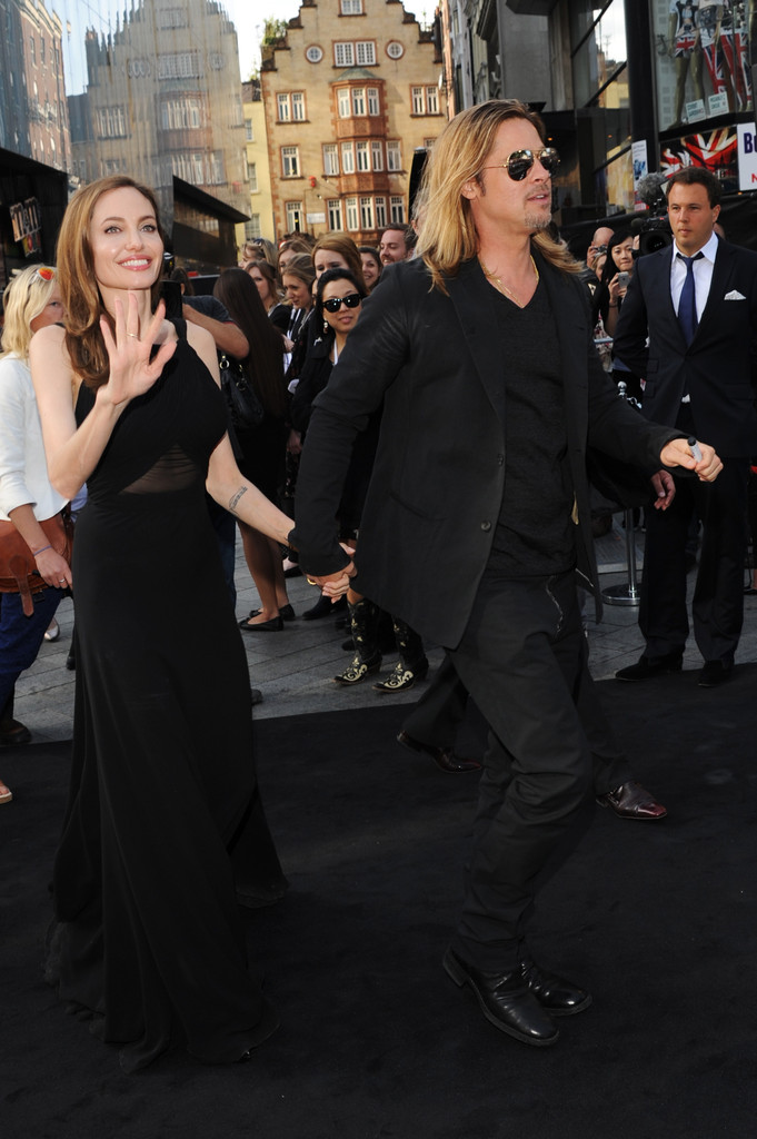Brad and Angelina at World War Z Premiere..Leicester Square, London..June 2nd, 2013 00335825