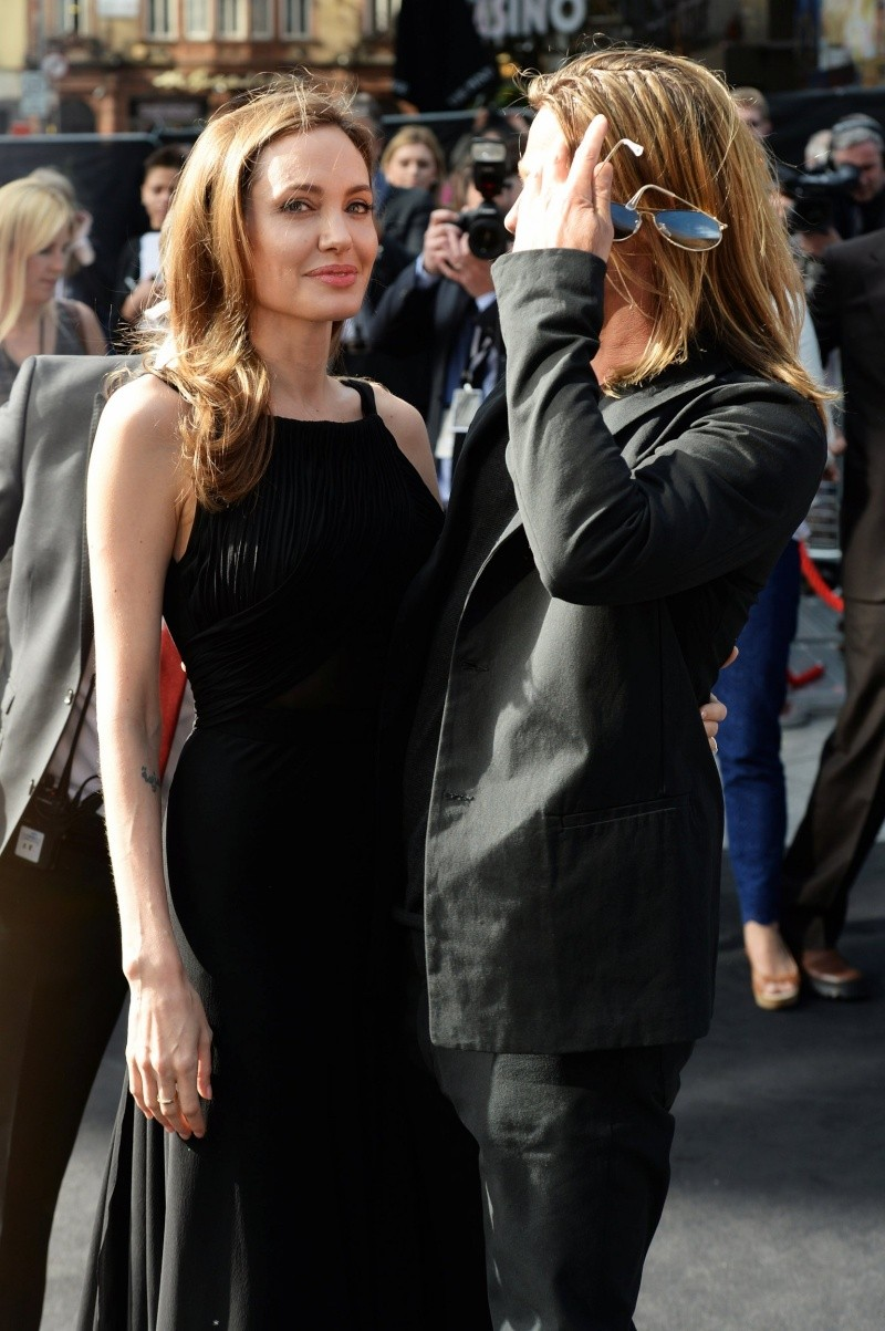 Brad and Angelina at World War Z Premiere..Leicester Square, London..June 2nd, 2013 - Page 2 00335826