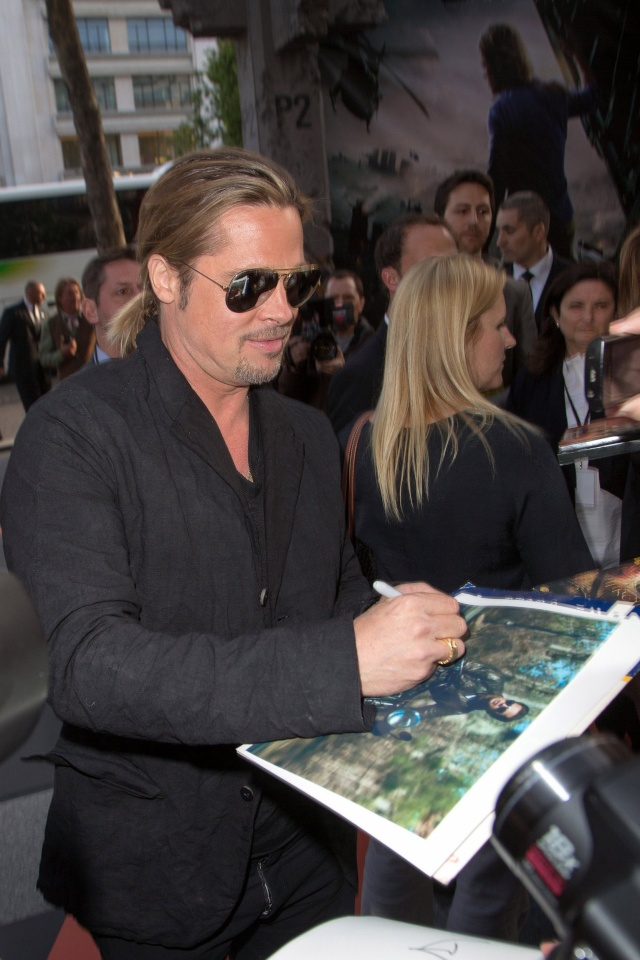 Brad and Angelina World War Z Premiere,UGC Normandie Movie Theatre.. Paris,France..June 3rd 2013 00414016