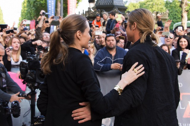 Brad and Angelina World War Z Premiere,UGC Normandie Movie Theatre.. Paris,France..June 3rd 2013 00513711
