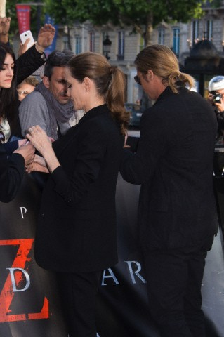 Brad and Angelina World War Z Premiere,UGC Normandie Movie Theatre.. Paris,France..June 3rd 2013 00527918