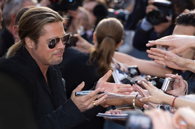 Brad and Angelina World War Z Premiere,UGC Normandie Movie Theatre.. Paris,France..June 3rd 2013 00527919