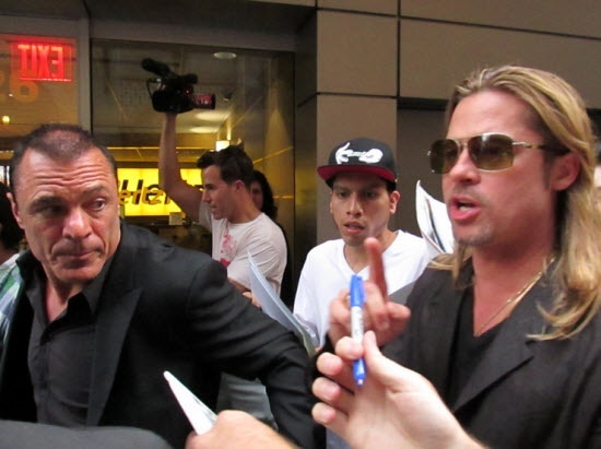 Brad at World War Z Premiere, New York..June 17th 2013 00610