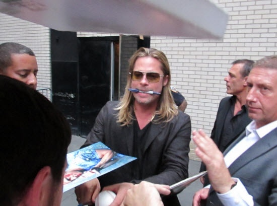 Brad at World War Z Premiere, New York..June 17th 2013 00612