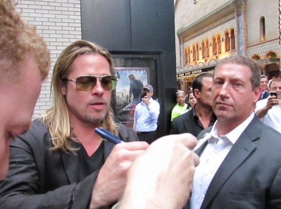 Brad at World War Z Premiere, New York..June 17th 2013 00613