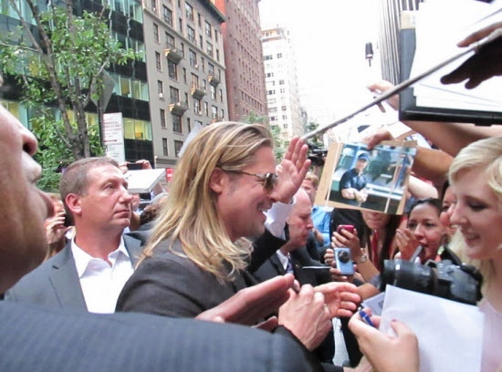 Brad at World War Z Premiere, New York..June 17th 2013 00614
