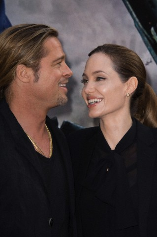 Brad and Angelina World War Z Premiere,UGC Normandie Movie Theatre.. Paris,France..June 3rd 2013 00917615