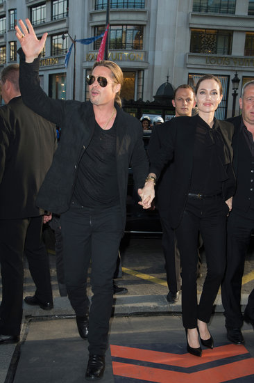 Brad and Angelina World War Z Premiere,UGC Normandie Movie Theatre.. Paris,France..June 3rd 2013 00917616