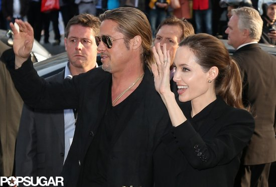 Brad and Angelina World War Z Premiere,UGC Normandie Movie Theatre.. Paris,France..June 3rd 2013 01213216