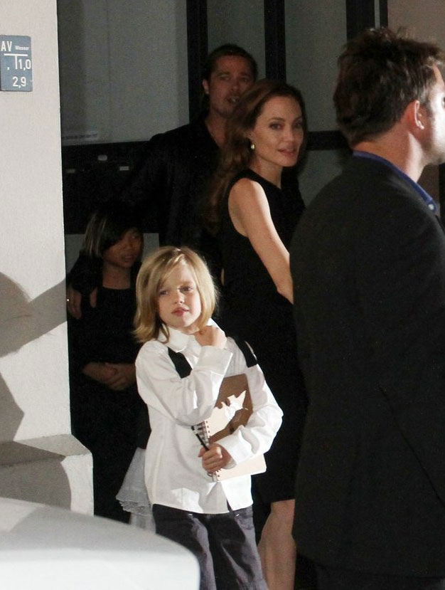 Brad, Angelina and Kids Dine at Kuchi Restaurant, Berlin,Germany..June 4th 2013 01213221