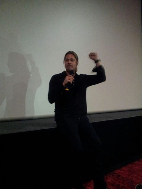Brad at World War Z Screening, London, June 1st 2013 0135