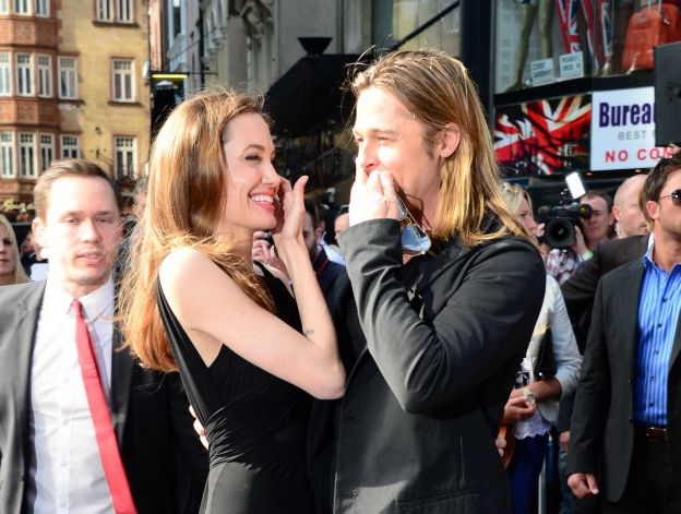 Brad and Angelina at World War Z Premiere..Leicester Square, London..June 2nd, 2013 0139