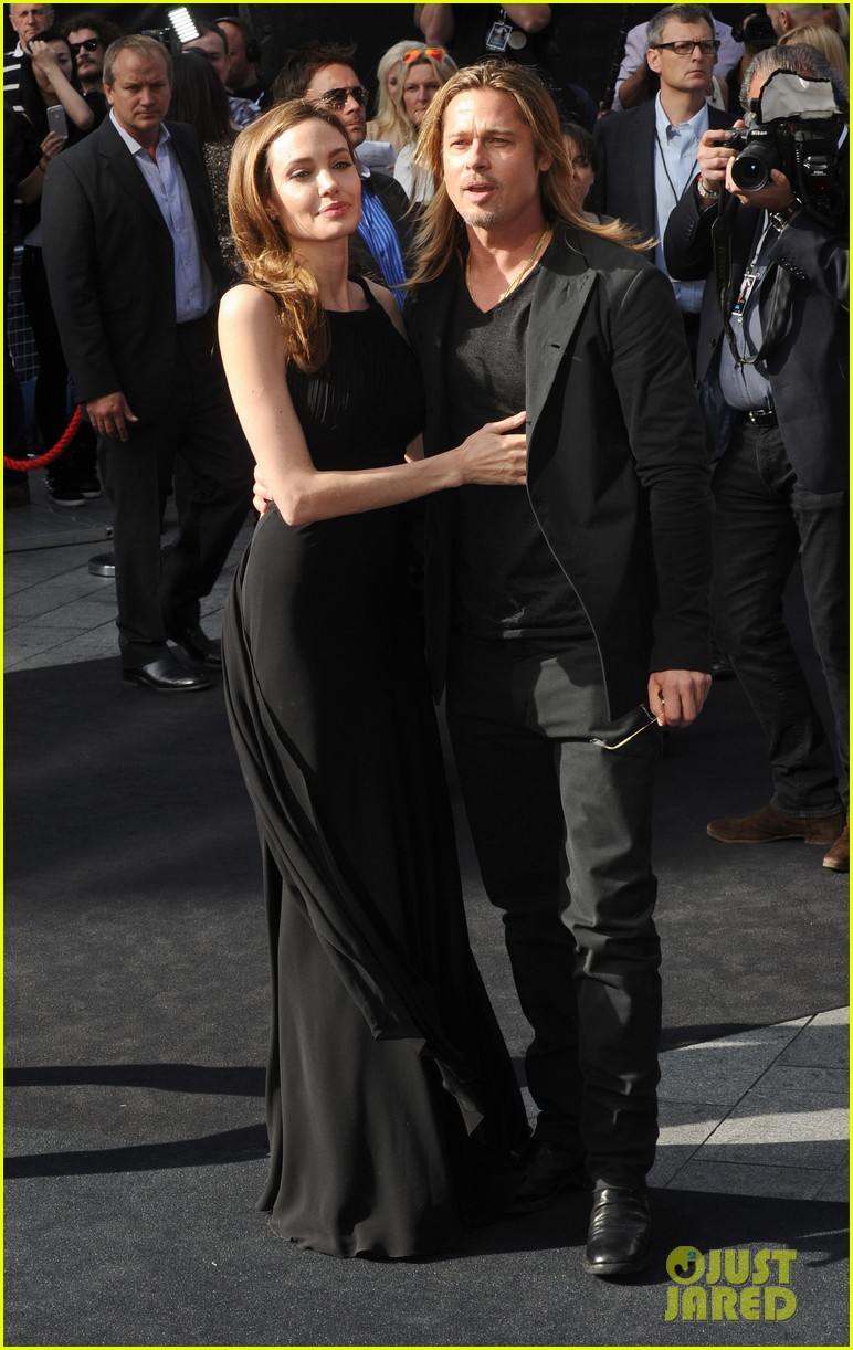 Brad and Angelina at World War Z Premiere..Leicester Square, London..June 2nd, 2013 0140