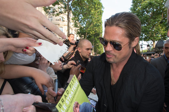 Brad and Angelina World War Z Premiere,UGC Normandie Movie Theatre.. Paris,France..June 3rd 2013 01411416