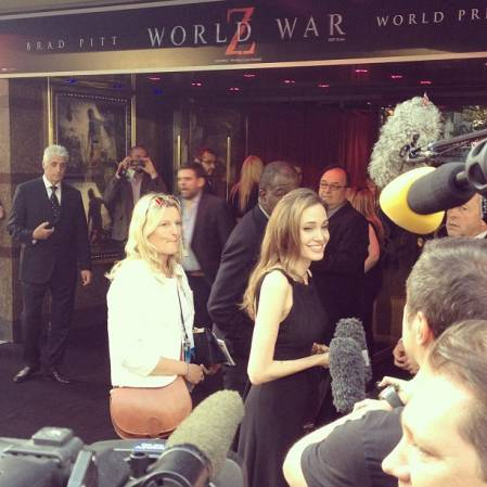 Brad and Angelina at World War Z Premiere..Leicester Square, London..June 2nd, 2013 0142