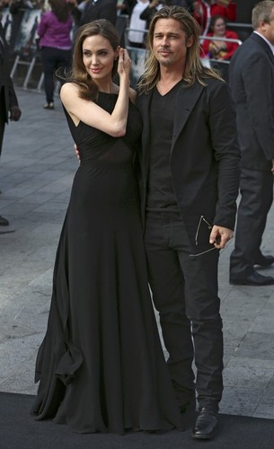 Brad and Angelina at World War Z Premiere..Leicester Square, London..June 2nd, 2013 0143