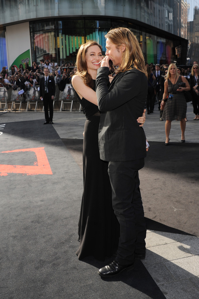 Brad and Angelina at World War Z Premiere..Leicester Square, London..June 2nd, 2013 0145