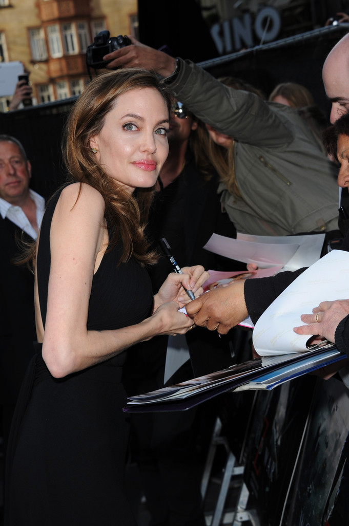 Brad and Angelina at World War Z Premiere..Leicester Square, London..June 2nd, 2013 0146