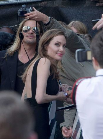 Brad and Angelina at World War Z Premiere..Leicester Square, London..June 2nd, 2013 - Page 2 0157