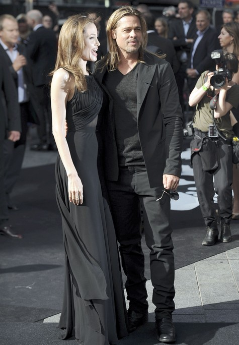 Brad and Angelina at World War Z Premiere..Leicester Square, London..June 2nd, 2013 - Page 2 0158