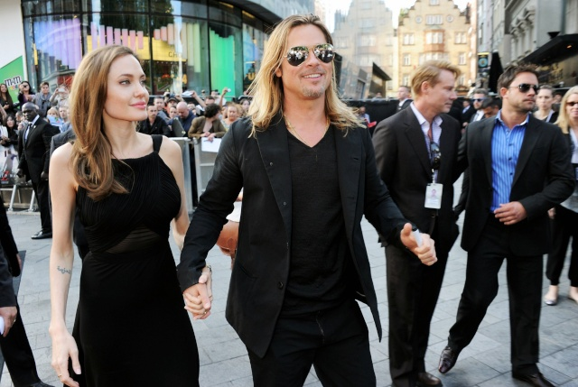 Brad and Angelina at World War Z Premiere..Leicester Square, London..June 2nd, 2013 - Page 2 0159