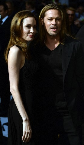 Brad and Angelina at World War Z Premiere..Leicester Square, London..June 2nd, 2013 - Page 2 0160