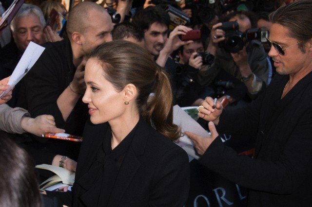 Brad and Angelina World War Z Premiere,UGC Normandie Movie Theatre.. Paris,France..June 3rd 2013 0166