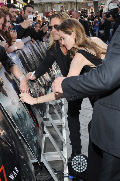Brad and Angelina at World War Z Premiere..Leicester Square, London..June 2nd, 2013 0235