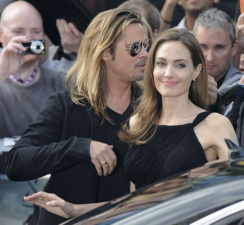 Brad and Angelina at World War Z Premiere..Leicester Square, London..June 2nd, 2013 - Page 2 0241