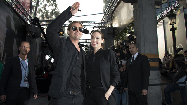 Brad and Angelina World War Z Premiere,UGC Normandie Movie Theatre.. Paris,France..June 3rd 2013 0244