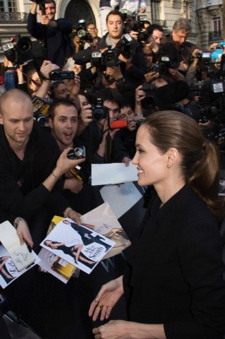 Brad and Angelina World War Z Premiere,UGC Normandie Movie Theatre.. Paris,France..June 3rd 2013 0246