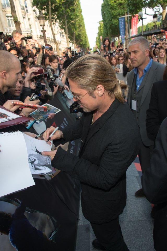 Brad and Angelina World War Z Premiere,UGC Normandie Movie Theatre.. Paris,France..June 3rd 2013 029
