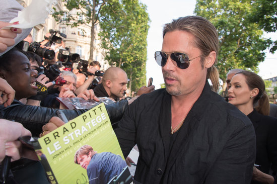 Brad and Angelina World War Z Premiere,UGC Normandie Movie Theatre.. Paris,France..June 3rd 2013 03021314