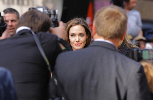 Brad and Angelina at World War Z Premiere..Leicester Square, London..June 2nd, 2013 - Page 3 0325