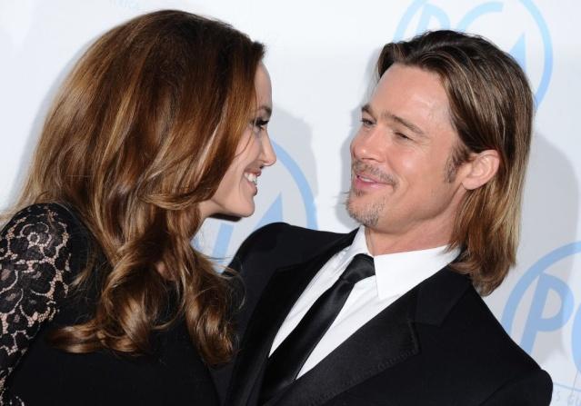 Brad and Angelina at Producers Guild Awards,Los Angeles, CA .January 21st 2012 033110
