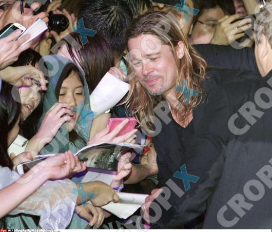 Brad at World War Z Premiere Seoul,South Korea..June 11th 2013 039