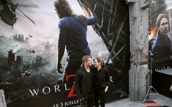 Brad and Angelina World War Z Premiere,UGC Normandie Movie Theatre.. Paris,France..June 3rd 2013 04041324