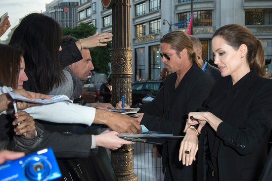 Brad and Angelina World War Z Premiere,UGC Normandie Movie Theatre.. Paris,France..June 3rd 2013 04041329