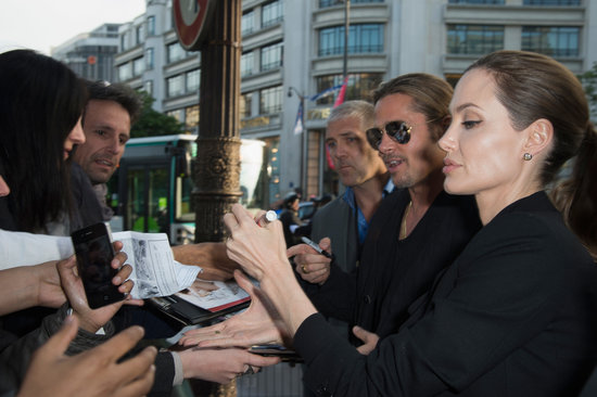 Brad and Angelina World War Z Premiere,UGC Normandie Movie Theatre.. Paris,France..June 3rd 2013 04041331