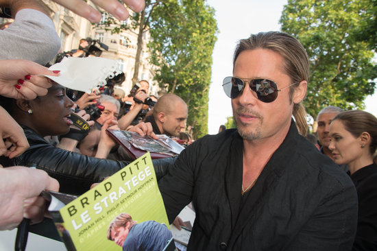 Brad and Angelina World War Z Premiere,UGC Normandie Movie Theatre.. Paris,France..June 3rd 2013 04041332
