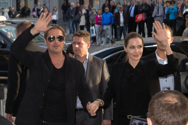 Brad and Angelina World War Z Premiere,UGC Normandie Movie Theatre.. Paris,France..June 3rd 2013 0429